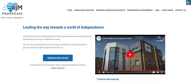 Image of AJM Healthcare new website