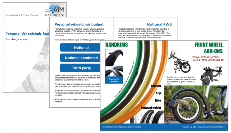 click here to open personal wheelchair budget brochure